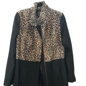 Leopard dress winter coat